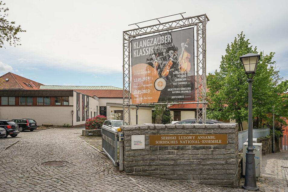 Das Sorbische National-Ensemble befindet sich an der Äußeren Lauenstraße in Bautzen. Hier soll künftig im großen Stil umgebaut werden.