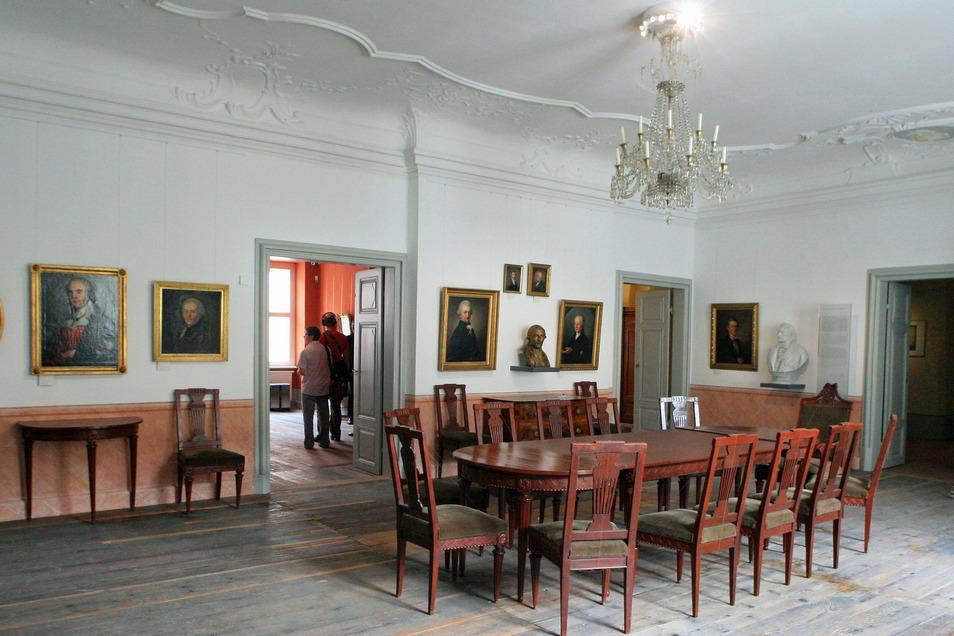 Im Barockhaus Neißstraße 30 in Görlitz erinnert vieles an eines der berühmten Familienmitglieder: Adolf Traugott von Gersdorff, der hier die Oberlausitzische Gesellschaft der Wissenschaften gründete.