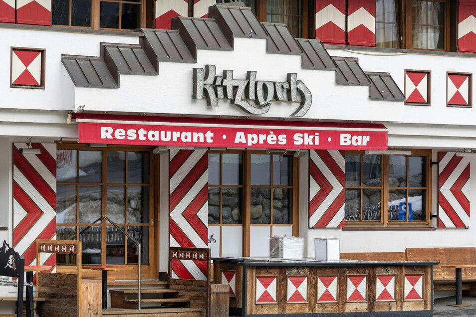 Das «Kitzloch», eines der angesagtesten Après-Ski-Lokale des Ortes. Ein Barkeeper des Lokals wurde Corona-positiv getestet - wohl Ausgangspunkt von Dutzenden Ansteckungen im März.