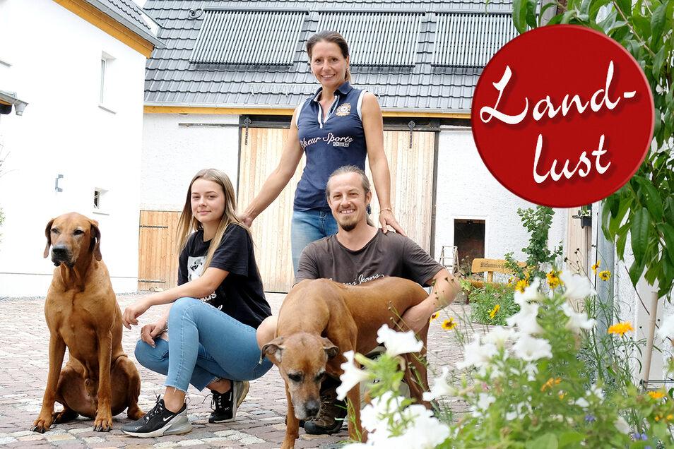 Familie Kühnemund ist aus Freital in die Lommatzscher Pflege gezogen.