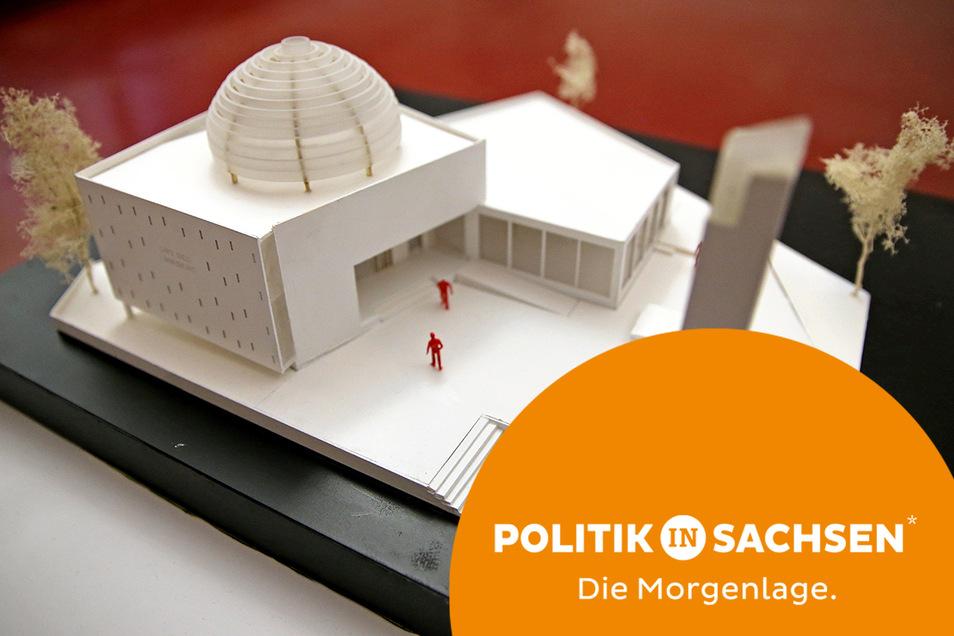 So soll der Moschee-Neubau in Leipzig aussehen.