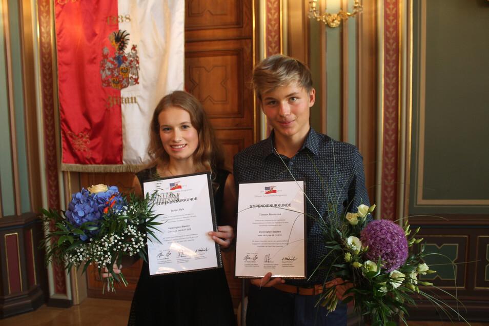Zwei Gymnasiasten aus Zittau werden demnächst für vier Wochen in die USA gehen. Dafür geben die Lions ebenfalls Geld.