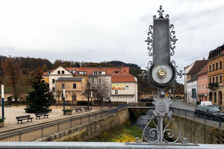 """Die Biela fließt genau durch Königstein. Entlang des Flusses soll die """"Erlebnisachse"""" führen."""