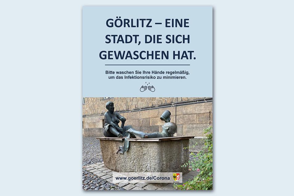 Der berühmte Brunnen am Klosterplatz ist auf Plakat Nummer drei zu sehen.
