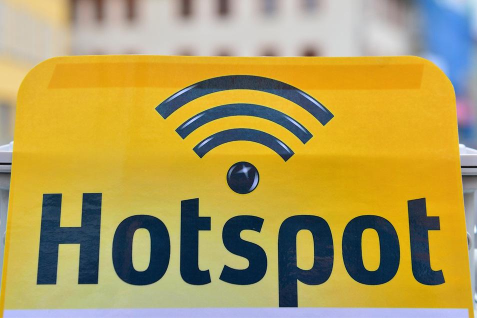 Das Logo eines WLAN-Hotspots.