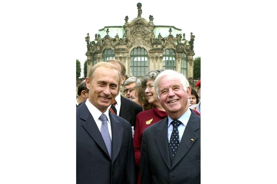 2001 mit dem russischen Präsident Wladimir Putin in Dresden.