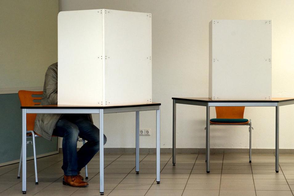 Gewählt werden darf nur in der Wahlkabine.