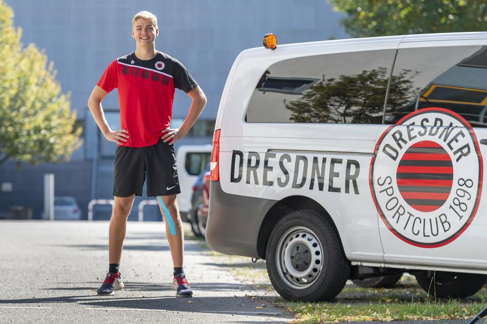 Weit größer als der Kleinbus des DSC: Simon Wulff überragt mit 2,02 Metern auch sämtliche deutsche Rivalen.