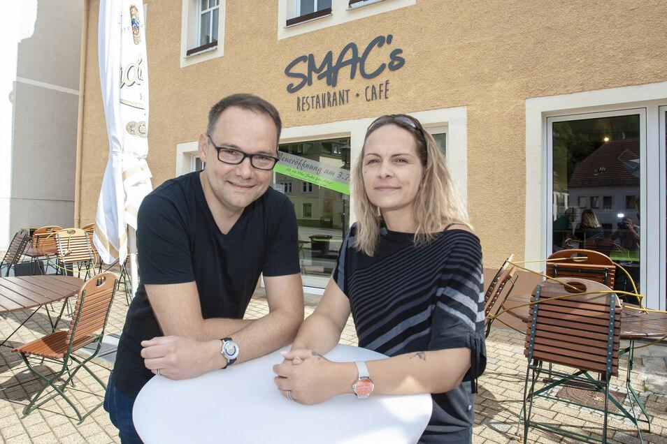 Mirko und Sarah Heyne eröffnen im Juli ihr SMAC Café und Restaurant am Museumsvorplatz in Glashütte.