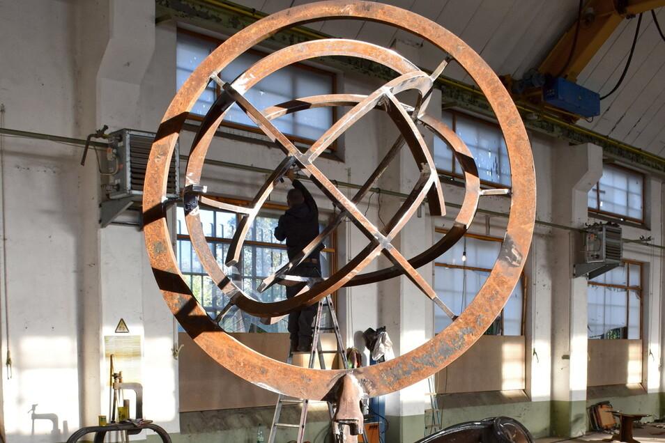 Dieses Kunstwerk schuf Christian Schmit beim diesjährigen Metallbildhauersymposium.