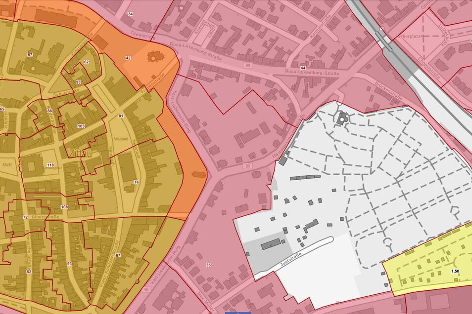 Zittaus kostbarste Grundstücke befinden sich innerhalb des Stadtrings.