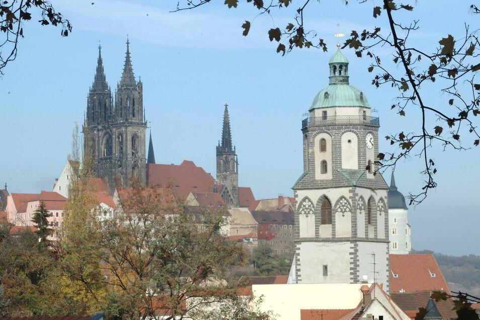 Auch die Frauenkirche am Markt in Meißen wird am Morgen des kommenden Sonntag mit ihren Glocken in den Meißener Osterruf einstimmen.