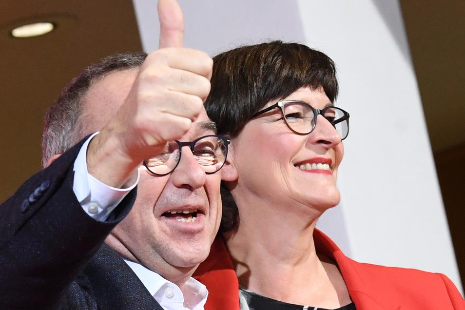 Designierte SPD-Doppelspitze: Saskia Esken und Norbert Walter-Borjans.