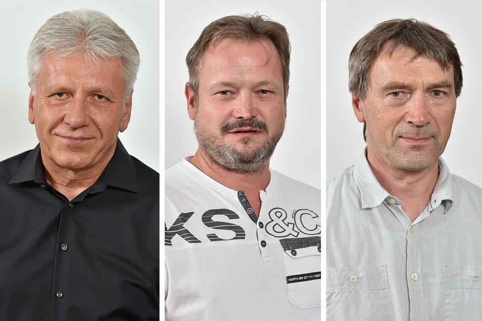 Hans-Jürgen Czwink (v.l.), Thomas Triller und Klaus Walter trennen sich von den Freien Wählern in Dipps und bilden die neue Fraktion Unabhängige Bürger.