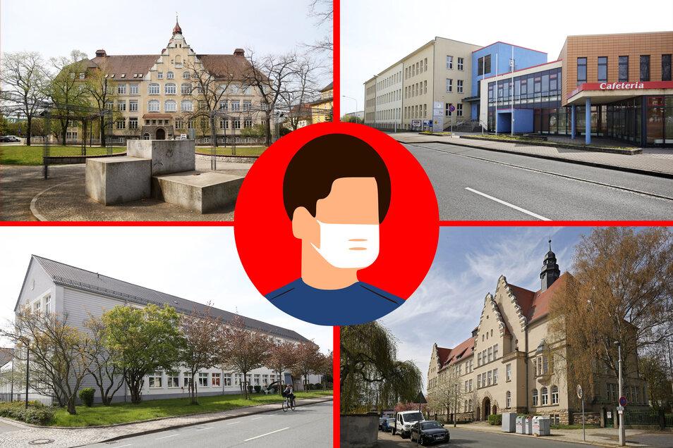 Eine Stadt, vier Gymnasien, dutzende Abiturienten: Am Heisenberg-Gymnasium (o.l.), dem BSZ für Technik und Wirtschaft (o.r.), dem Rudolf-Stempel-Gymnasium (u.l) und dem Städtischen Gymnasium im Haus Planck (u.r.) finden bald Prüfungen statt.