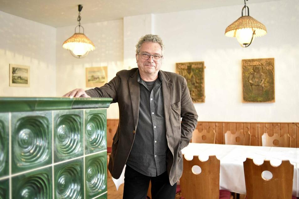 Jochen Löbel, ehemaliger Hotelchef des Lugsteinhofes und Sprecher des Wirtestammtischs Osterszgebirge.