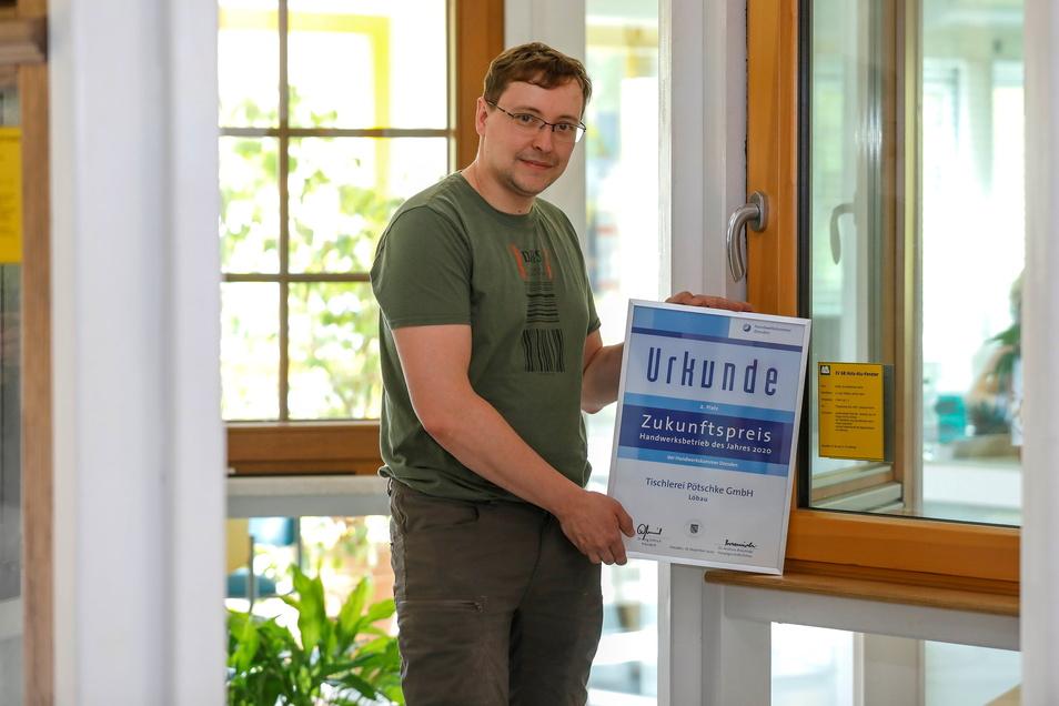 Thomas Pötschke freut sich über den Zukunftspreis für das Familienunternehmen.