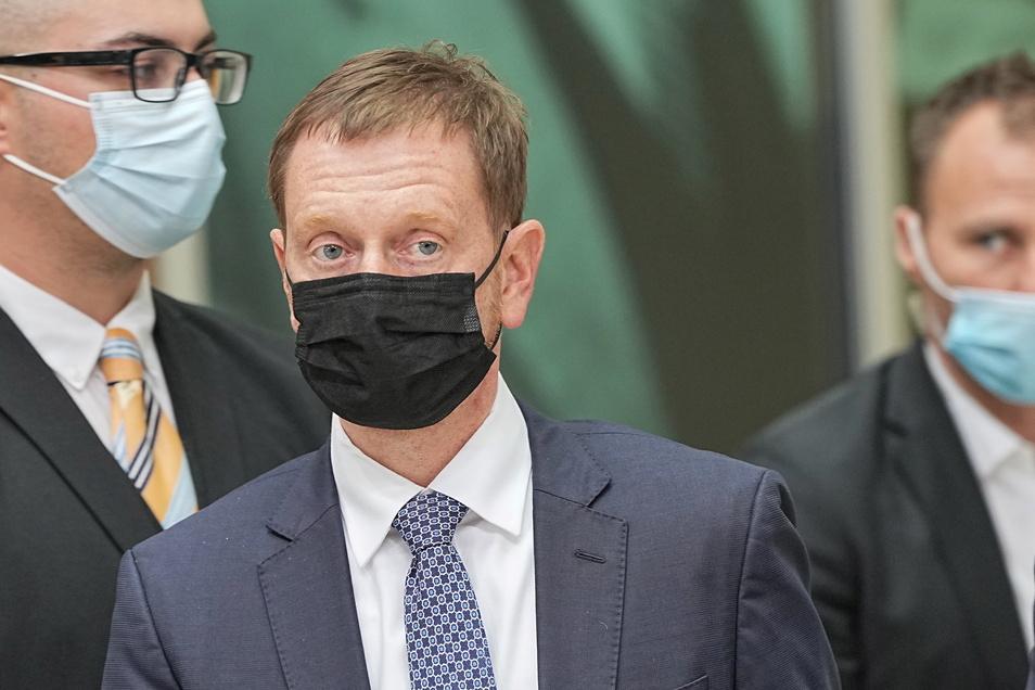 Sachsens Ministerpräsident Michael Kretschmer nach den Gremiensitzungen der CDU im Konrad-Adenauer-Haus.