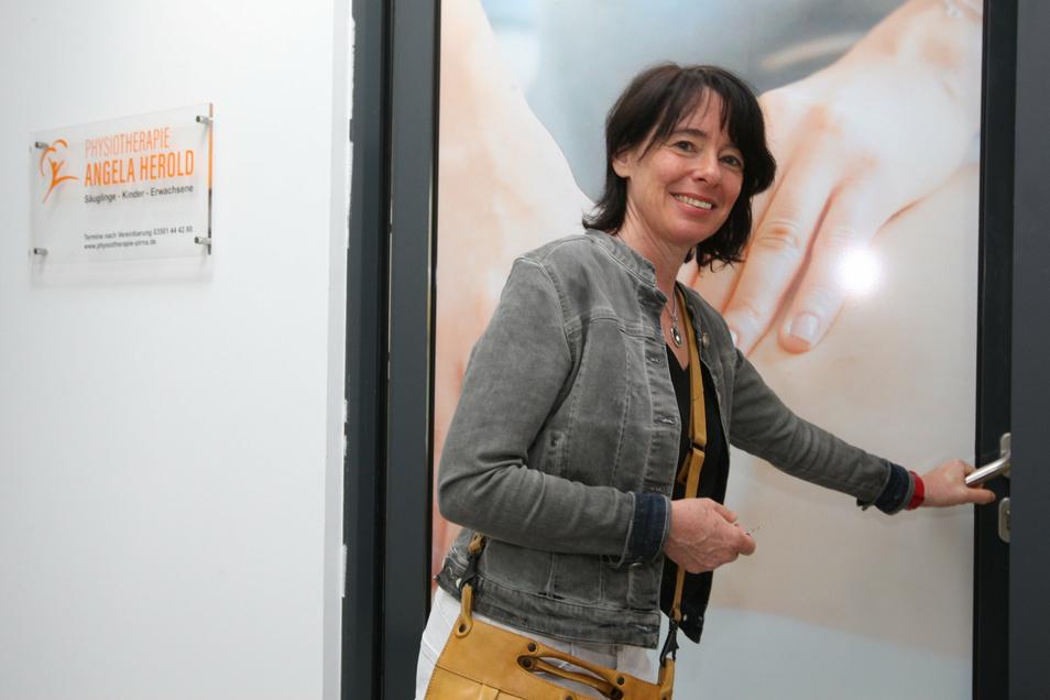 Physiotherapeutin Angela Herold: Ich wollte noch einmal etwas Neues machen.