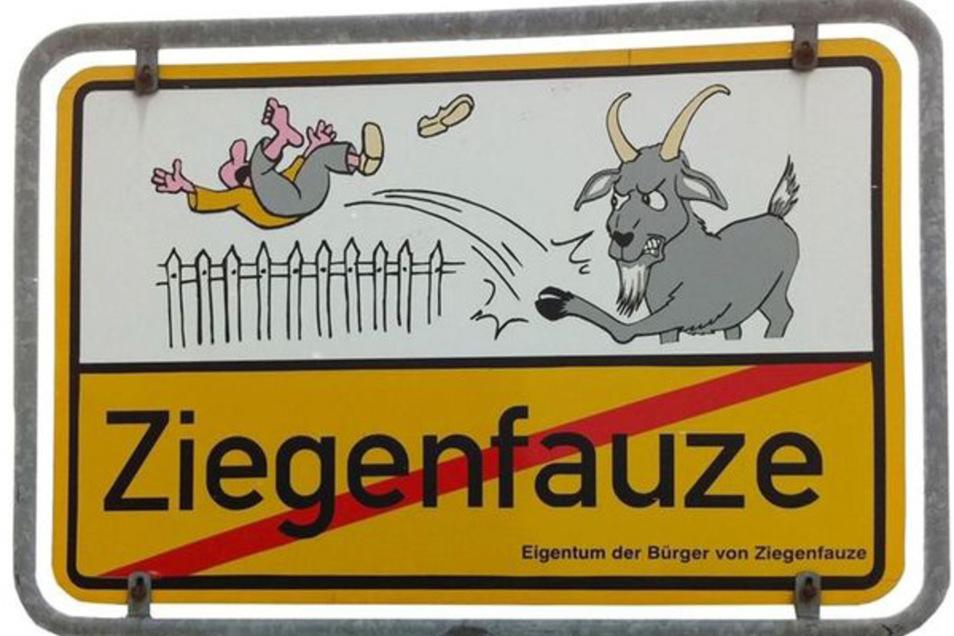Dieses Ortsschild wurde jetzt in der Gemeinde Malschwitz gestohlen.