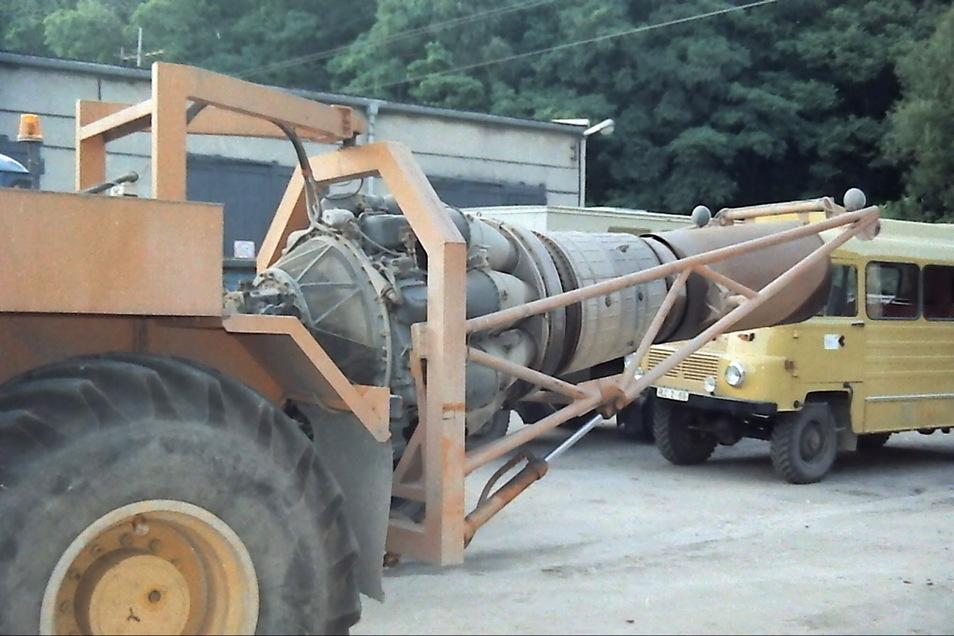 Die ehemaligen Bergleute sind stinksauer. Sie wollen ihre Turbine zurück, die hier im Bild zu sehen ist.