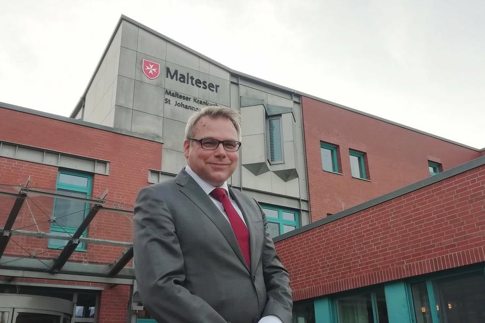 Das Kamenzer Krankenhaus St. Johannes bleibt - wie auch das St. Carolus in Görlitz - unter dem Dach der Malteser. Geschäftsführer Sven Heise ist froh über diese Lösung.