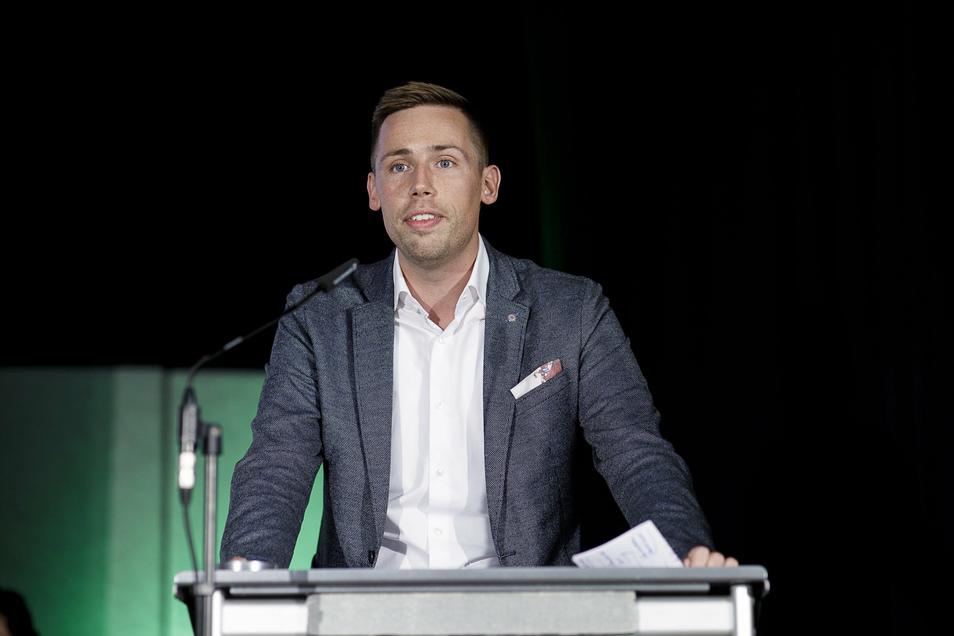 Florian Oest im Görlitzer Tivoli, als die CDU ihn zu ihrem Direktkandidaten nominierte.