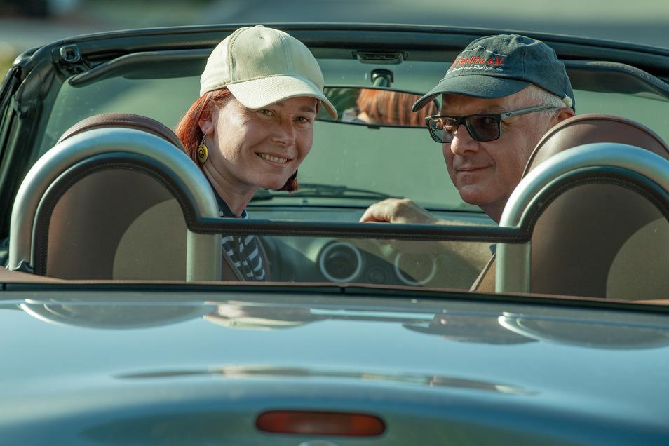 SZ-Autorin Jenny Thümmler mit ihrem Beifahrer Falko Herbig.