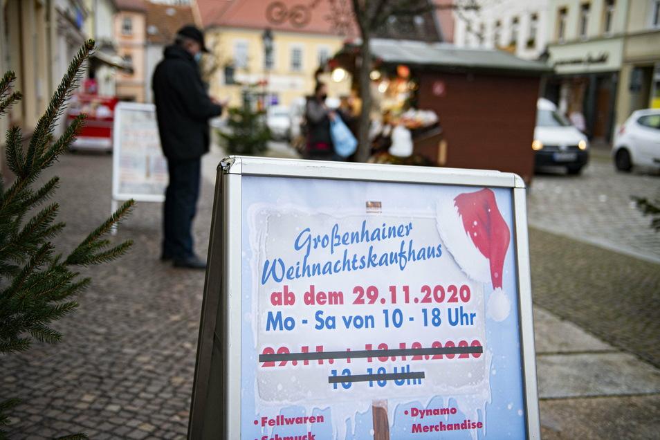 Auch in Großenhain müssen am Montag die Geschäfte wieder schließen. Um ihren Kunden noch ein paar Einkaufsstunden mehr zu bieten, öffnen viele am Freitag und Samstag bis 20 Uhr.