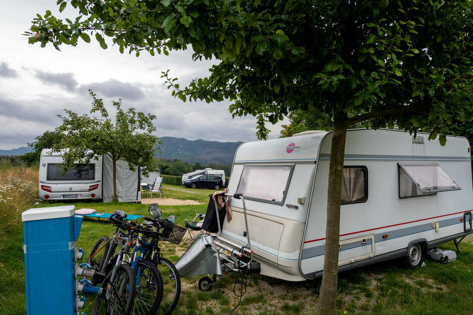 Die Campingplätze sind gut gebucht, wie hier der Campingplatz Bergoase in Mittelndorf.