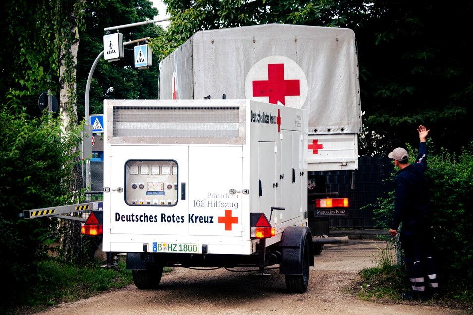 Das Rote Kreuz ist aus ganz Deutschland im Einsatz.