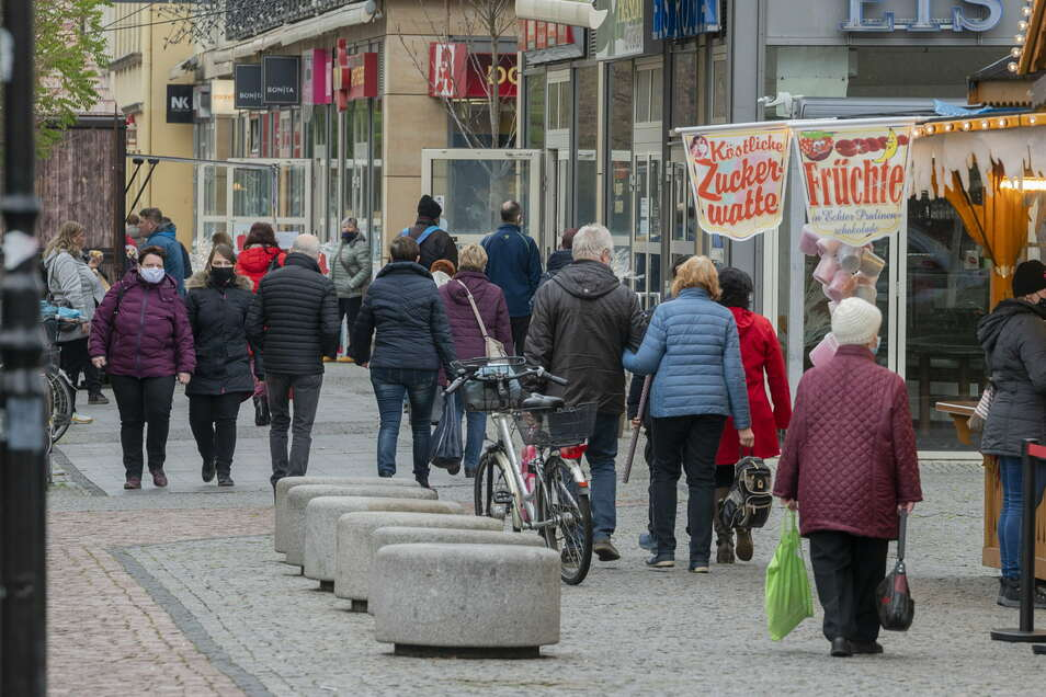 Viel los auf der Einkaufsmeile: Die Hauptstraße war in den vergangenen Tagen gut besucht.