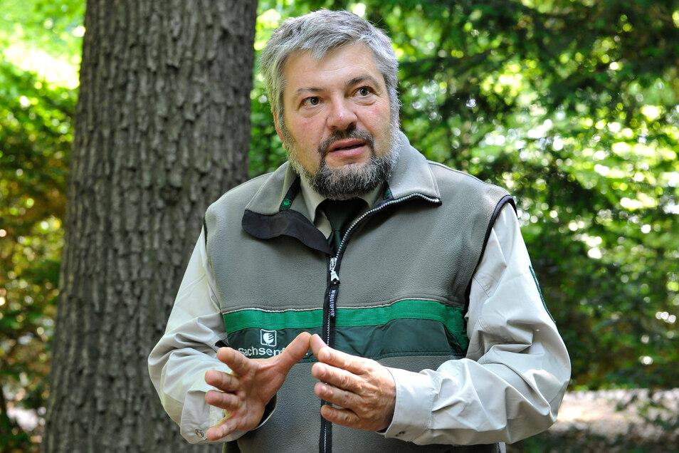 Referent Wolfram Gläser vom Forstbezirk Bärenfels