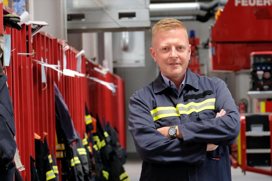 Frank Fischer ist Chef der Meißner Freiwilligen Feuerwehr. Ihr gehören 46 Mitglieder in der Einsatzabteilung, 20 Mitglieder in der Alters- und Ehrenabteilung und 25 Mitglieder in der Jugendfeuerwehr an.