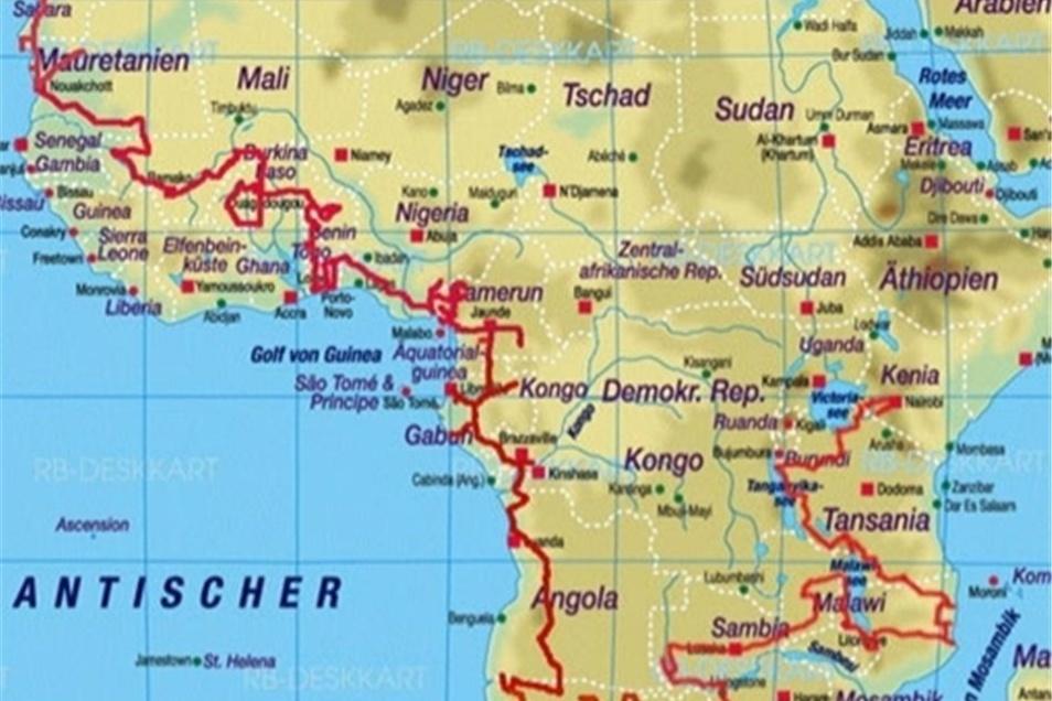 Auf drei Etappen haben die Pötzschkes Afrika mittlerweile fast komplett umrundet. Im November brechen sie wieder auf.