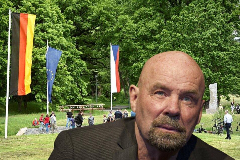 Der Dreiländereckpunkt bei Hartau: Vor 30 Jahren hat sich Heinz Eggert für das Zusammenwachsen von Deutschland, Tschechien und Polen eingesetzt - damals als Landrat von Zittau.