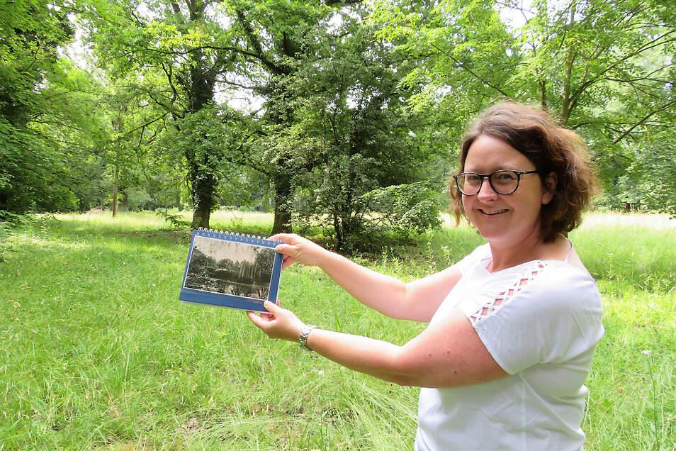 Die Ex-Lautaerin und Neu-Main-Frankfurterin Manuela Köhler war zu Gast und verfolgte fasziniert die Berichte über die historische Entwicklung des Stadtparks.