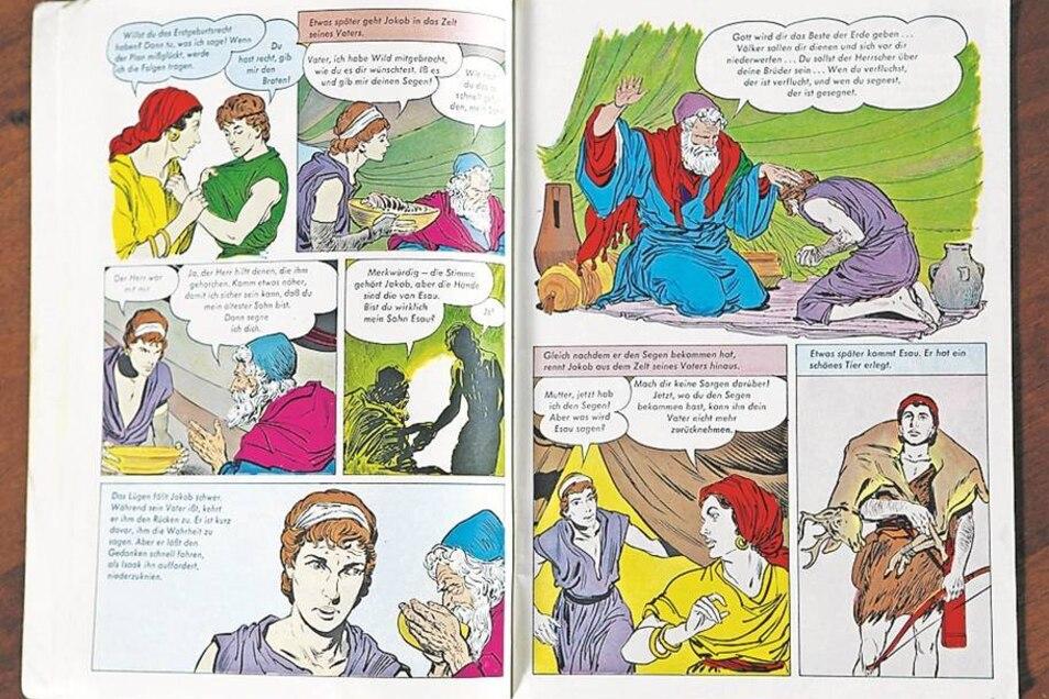 Heilige Schrift in Sprechblasen: Diese englischsprachige Comic-Bibel entführt die Leser ins alte Ägypten.