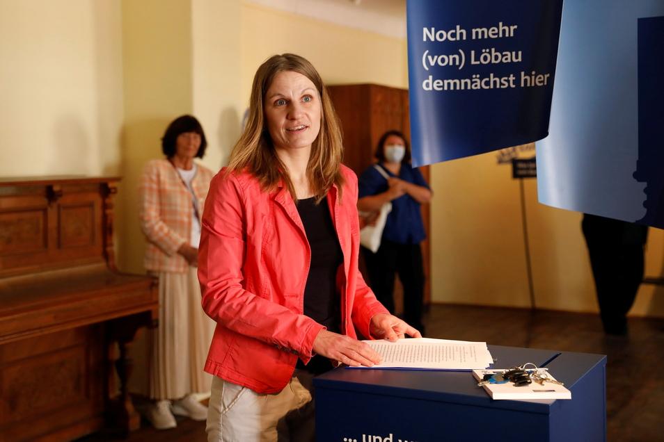 Corinna Wandt eröffnete vor wenigen Wochen die neue Löbauer Dauerausstellung im Museum. Es war ihr letzter öffentlicher Auftritt als Museumsleiterin.