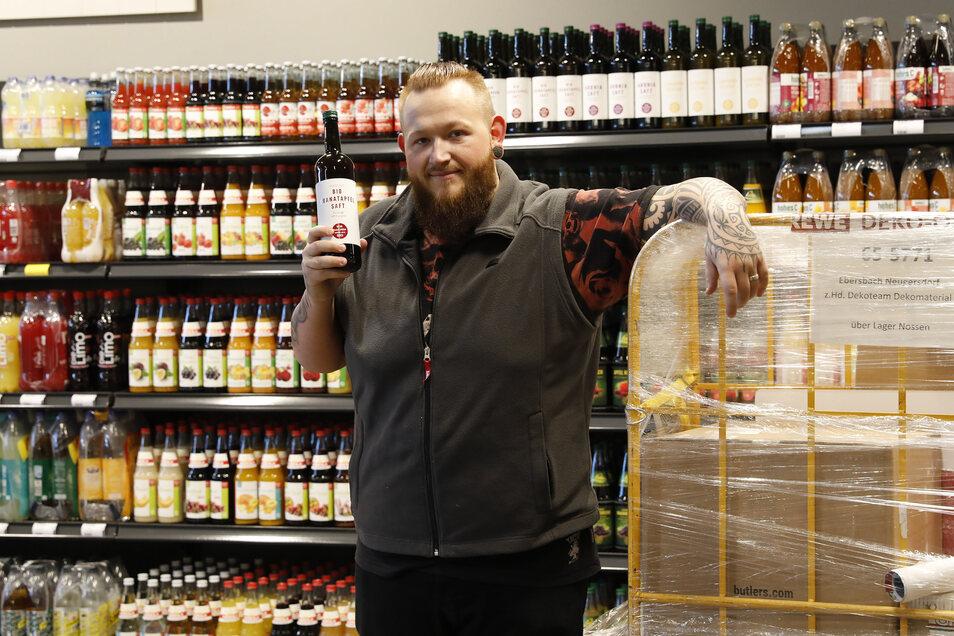 Ronny Rohark leitet die Getränkeabteilung. Auch hier gibt's viel Regionales.
