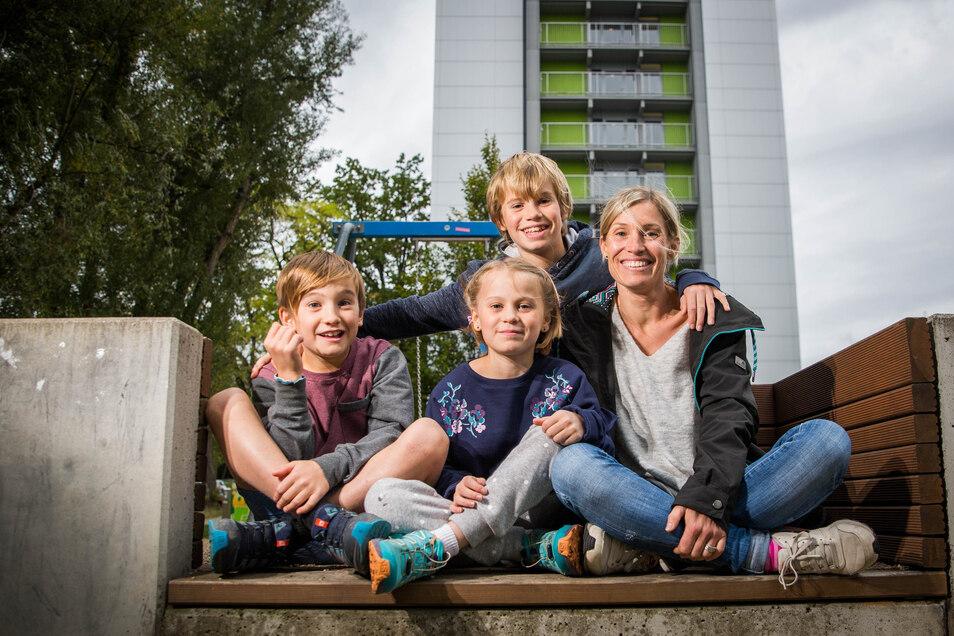 Vor 13 Jahren wanderte Anke Smiles nach Australien aus. Nun kam sie mit drei Kindern zurück in ihre Heimat.
