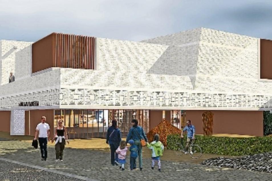 Das Projekt Neubau und Erweiterung Karl-May-Museum – hier der Architekten-Entwurf an der Meißner Straße – ist nicht gestorben.