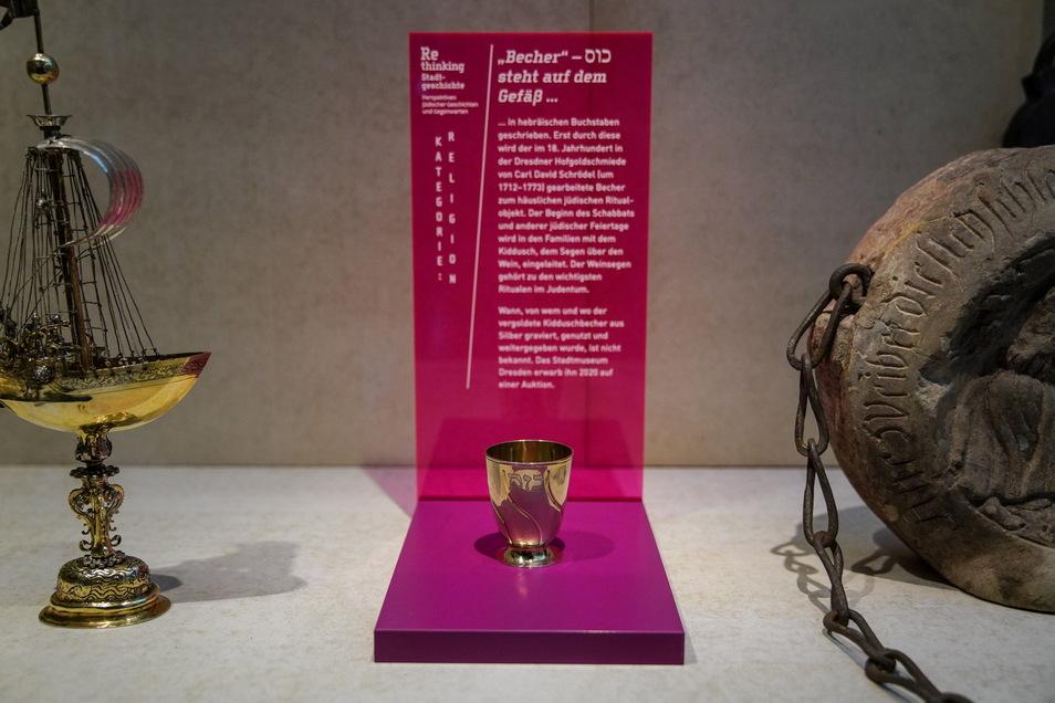 Zu den Exponanten zählt unter anderem ein jüdischer Ritual-Becher.