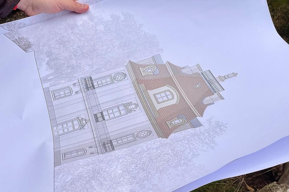 So wie auf der Architekten-Zeichnung soll das Rokoko-Kleinod wieder aussehen.