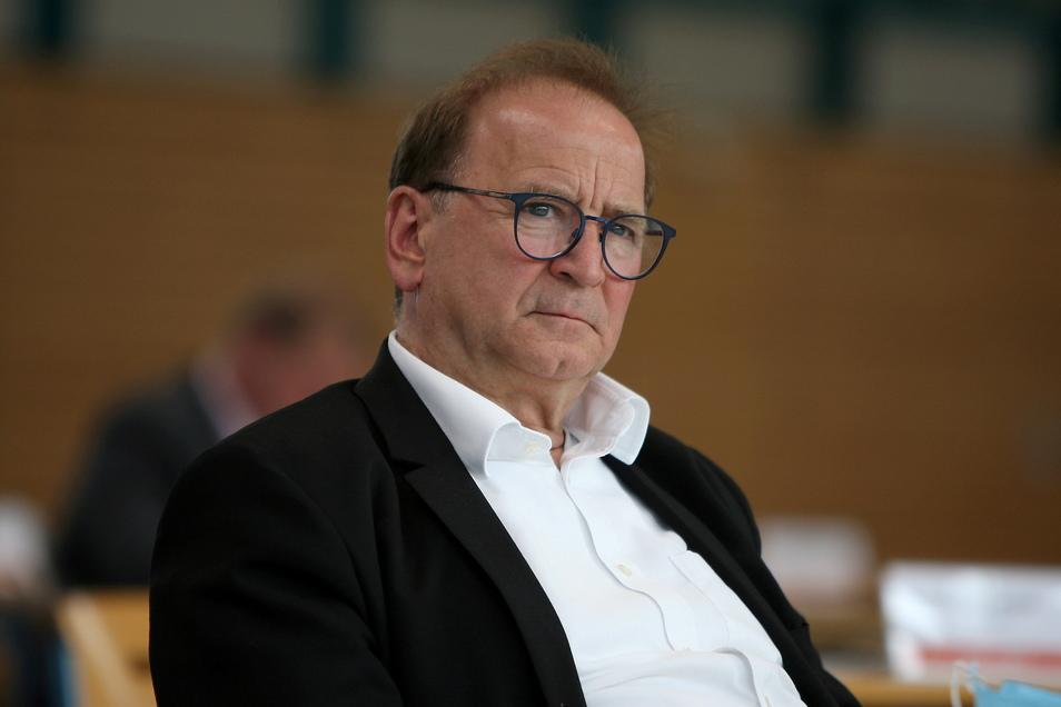 Jürgen Opitz (CDU) kämpft als Heidenauer Bürgermeister und Vorsitzendes des IPO-Zweckverbandes für das Großvorhaben, weil er in ihm Chancen für die Zukunft der Region sieht.
