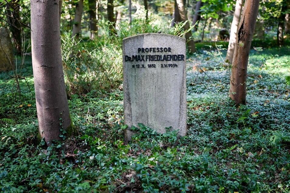 Das Grab von Max Friedlaender auf dem Südwestkirchhof Stahnsdorf.
