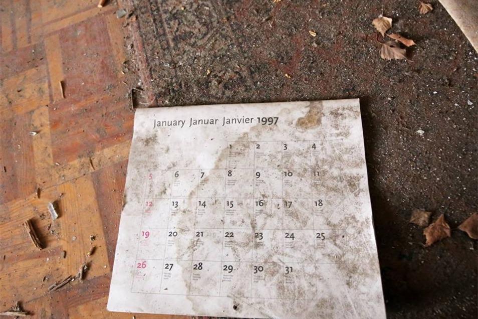 Der Kalender aus dem Jahr 1997 zeigt es: Damals zogen die letzten Mieter aus.