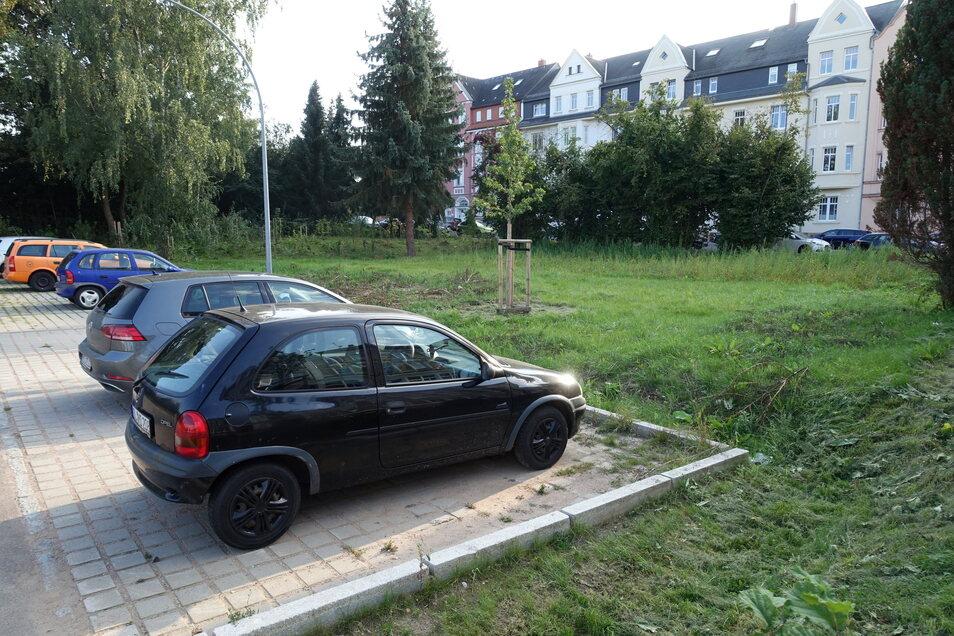 Eine Grünfläche neben dem Parkplatz an der Schillerstraße wird für die Erweiterung verwendet. Der Hauptausschuss hat am Donnerstag den Auftrag erteilt.
