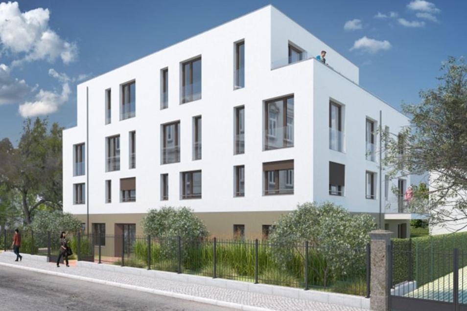 Dort will das Dresdner Unternehmen Immokonzept drei moderne Neubauten errichten.