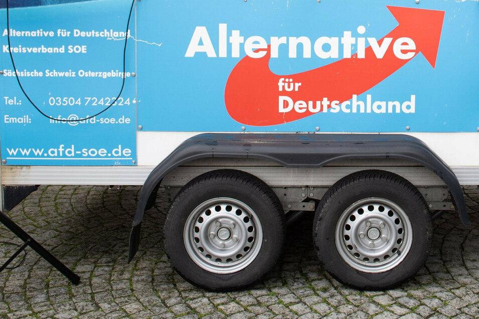 Bei einer AfD-Veranstaltung im sächsischen Plauen kam es zu einem Handgemenge.